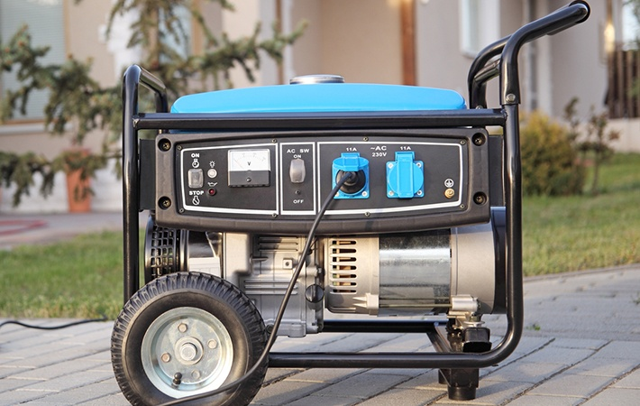 How much gas does a generator use
